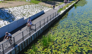 Inauguration de la véloroute-voie verte du canal de la Haute-Seine
