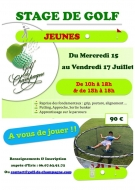 Stage de Golf Jeunes au Golf de Champagne